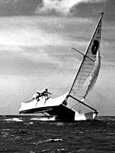 The Manu Kai with flying hull