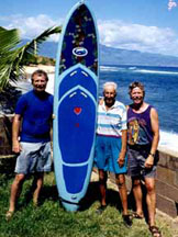 "Woody and David with the co-producer of ""Surfing for Life,"" Roy Earnest"